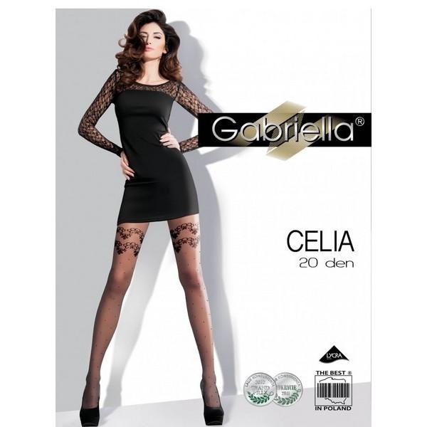 CELIA 20 Den Collant Noir Gabriella