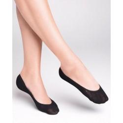 Socquettes sans couture Lycra Beige ou Noire Gabriella
