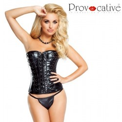 Corset simili cuir PR1082 Provocative